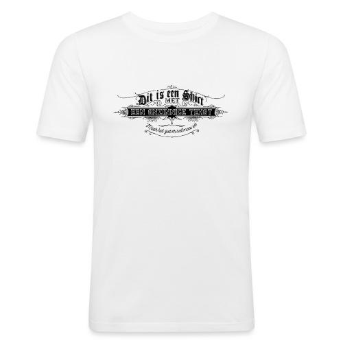 Dit is een shirt - Mannen slim fit T-shirt