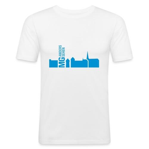 MG anders sehen Logo - Männer Slim Fit T-Shirt