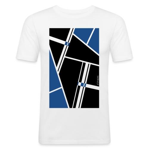 d'shapes black blue - Maglietta aderente da uomo