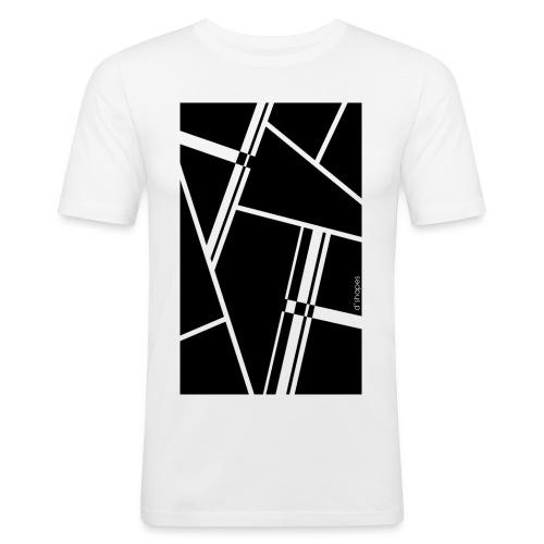 d'shapes black - Maglietta aderente da uomo