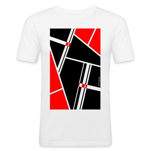 d'shapes black red - Maglietta aderente da uomo