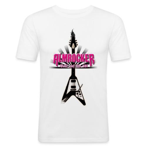 AlmRocker-Gitarre-schwarz - Männer Slim Fit T-Shirt