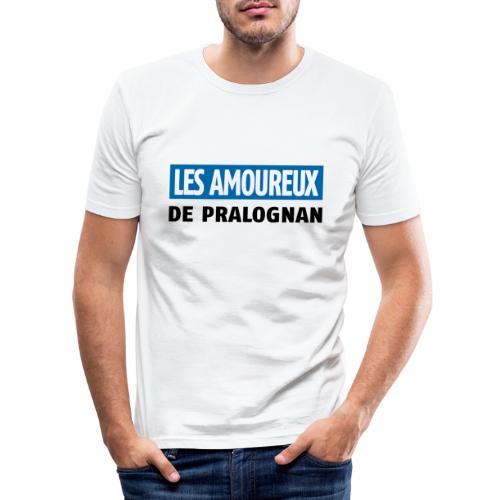 les amoureux de pralognan texte - T-shirt près du corps Homme