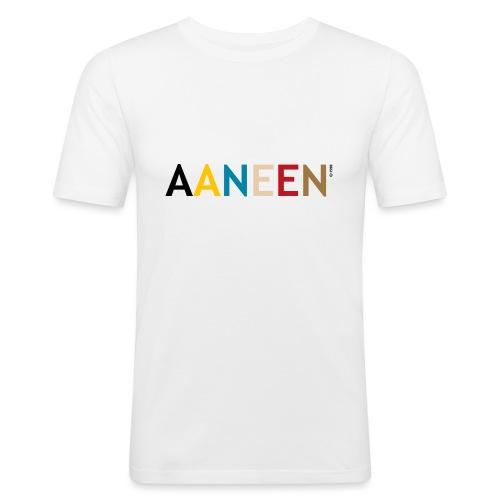 AANEEN_Alleen_Letters - Mannen slim fit T-shirt