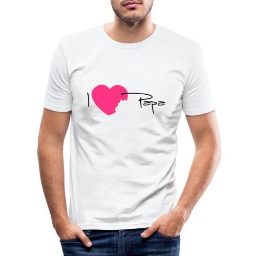 I love Papa 13 Vecto - T-shirt près du corps Homme