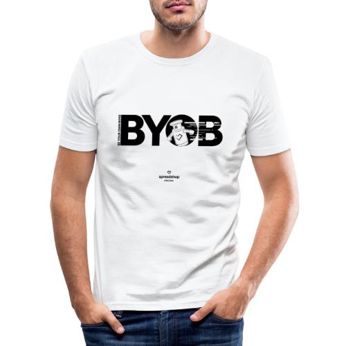 BYOB2 Dark Robot - Men's Slim Fit T-Shirt