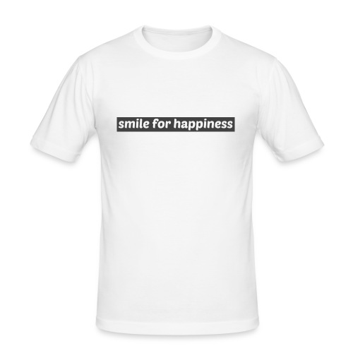 smile for happiness - Slim Fit T-shirt herr