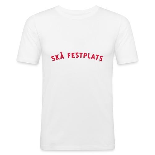 Skå Festplats Logotyp Röd - Slim Fit T-shirt herr