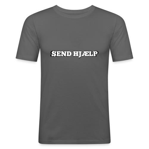 SEND HJÆLP T-shirt - Herre Slim Fit T-Shirt