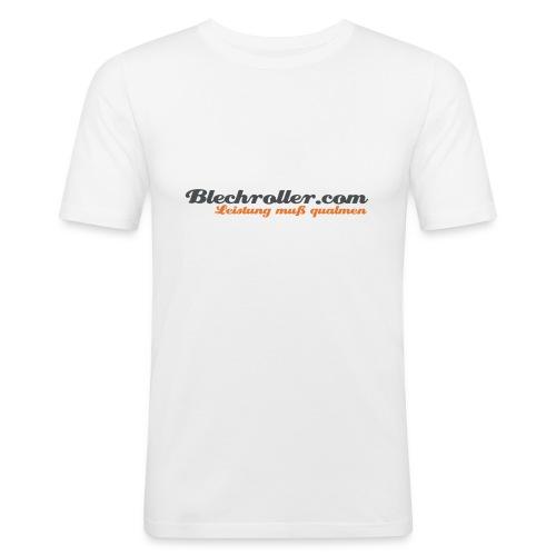 blechroller logo - Männer Slim Fit T-Shirt