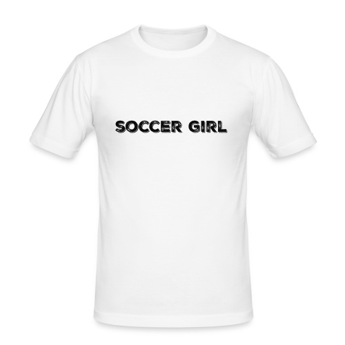 SOCCER GIRL LOGO SHIRT - Men's Slim Fit T-Shirt