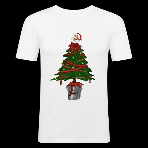 Messy Christmas - Mannen slim fit T-shirt