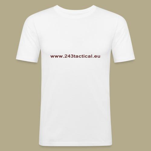 .243 Tactical Website - Mannen slim fit T-shirt