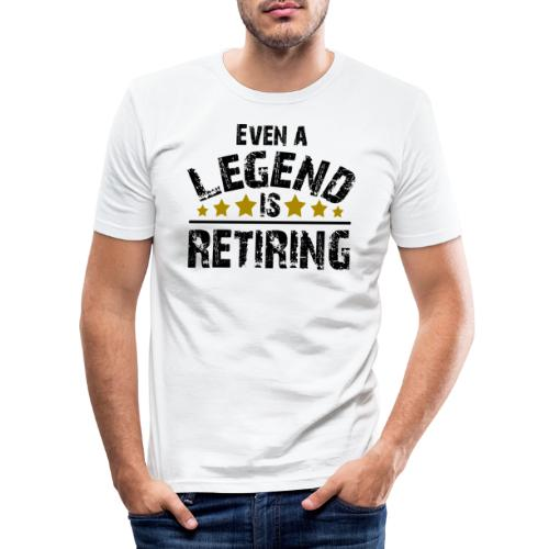 Legend Rente Pension Ruhestand Pensionist Geschenk - Männer Slim Fit T-Shirt