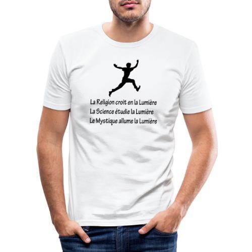 Lumière Religion Science Mystique - T-shirt près du corps Homme