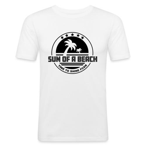 SUN OF A BEACH - Männer Slim Fit T-Shirt