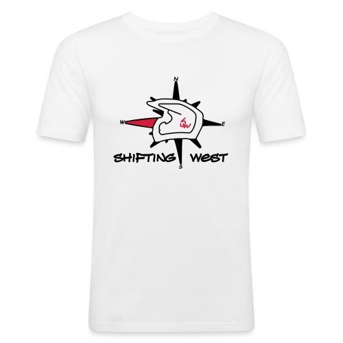 Shifting West Logo vector - Mannen slim fit T-shirt