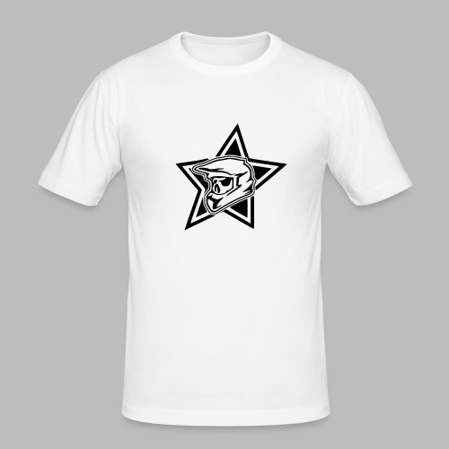 Motocross Helm - Männer Slim Fit T-Shirt