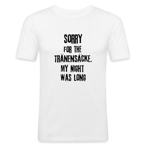Die Nacht war lang - Männer Slim Fit T-Shirt