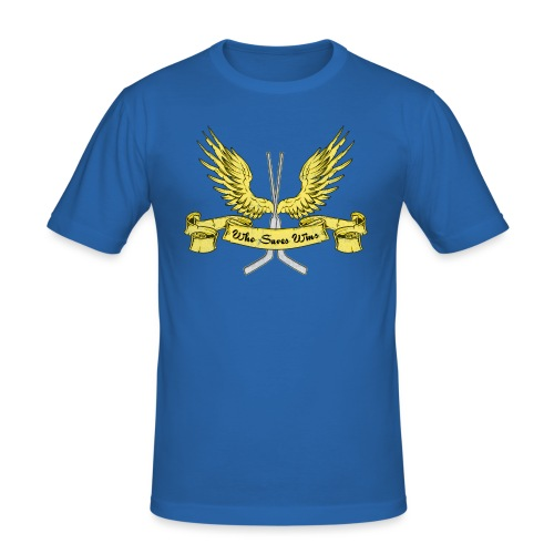 Who Saves Wins, Hockey Goalie - Men's Slim Fit T-Shirt