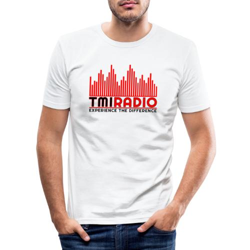 NEW TMI LOGO RED AND BLACK 2000 - Men's Slim Fit T-Shirt