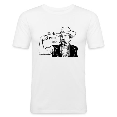 Kick Your Ass - Mannen slim fit T-shirt