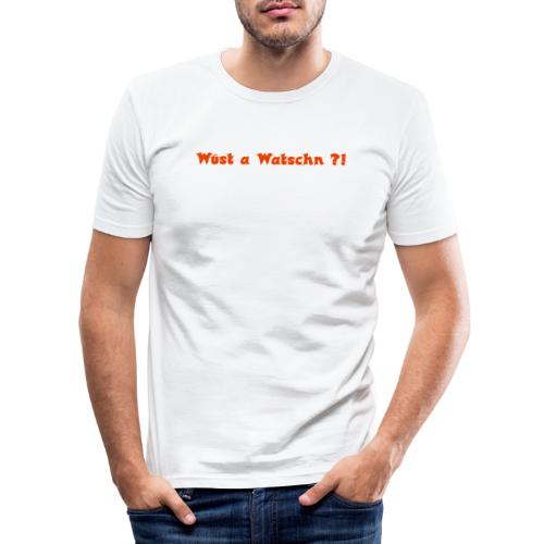 Wüst a Watschn?! - Männer Slim Fit T-Shirt
