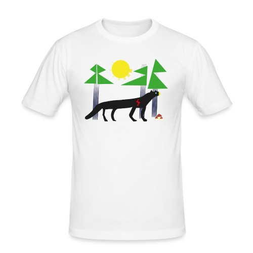 Black panter - Obcisła koszulka męska