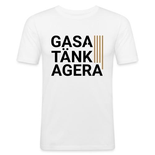 T-shirt för inspiration. Gasa-Tänk-Agera - Slim Fit T-shirt herr
