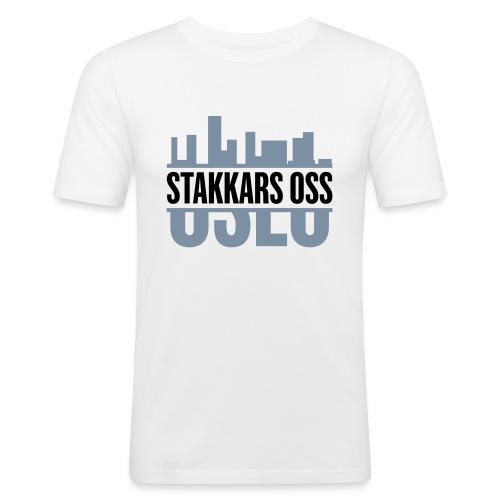 stakkars oss logo 2 ny - Slim Fit T-skjorte for menn