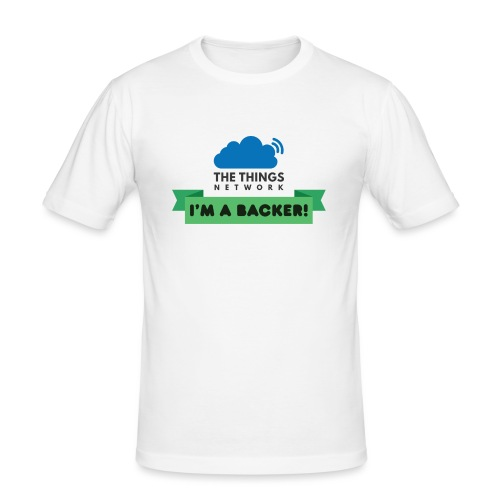 The Things Network Backers - Mannen slim fit T-shirt