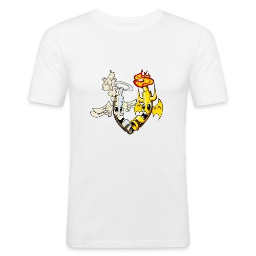 engel_teufel_color_ohne_s - Männer Slim Fit T-Shirt
