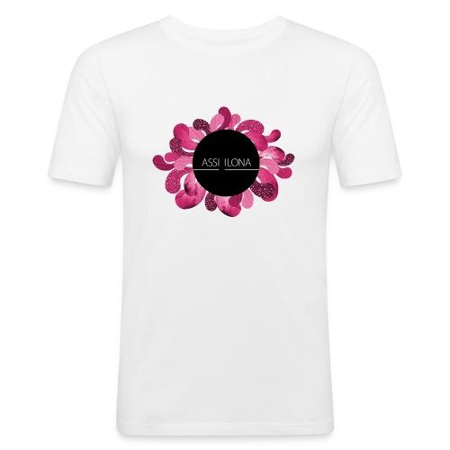 Naisten t-paita punaisella logolla - Miesten tyköistuva t-paita