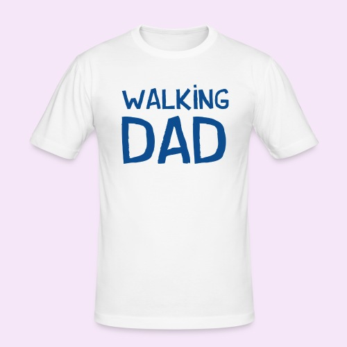 Vierdaagse Nijmegen - Walking Dad BLUE - Mannen slim fit T-shirt