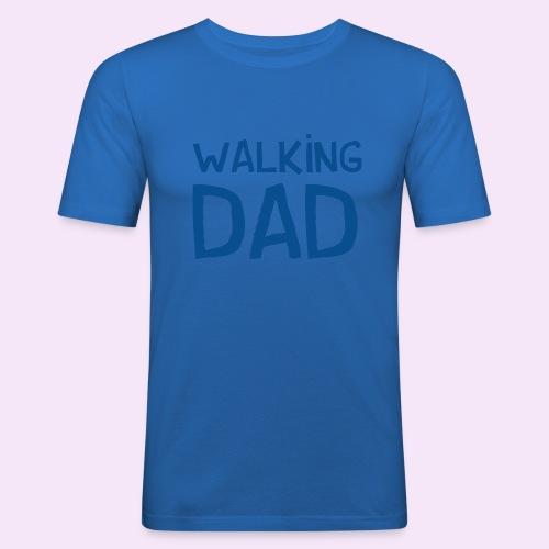 Vierdaagse Nijmegen - Walking Dad BLUE - Mannen slim fit T-shirt