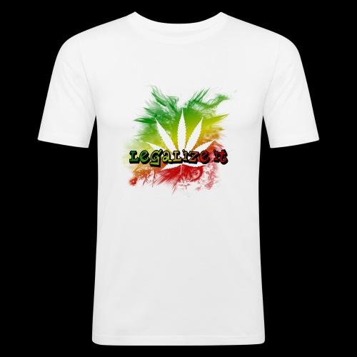Legalize it - Männer Slim Fit T-Shirt