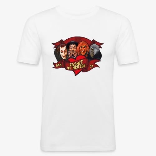 Fasnet im Herzen - Männer Slim Fit T-Shirt