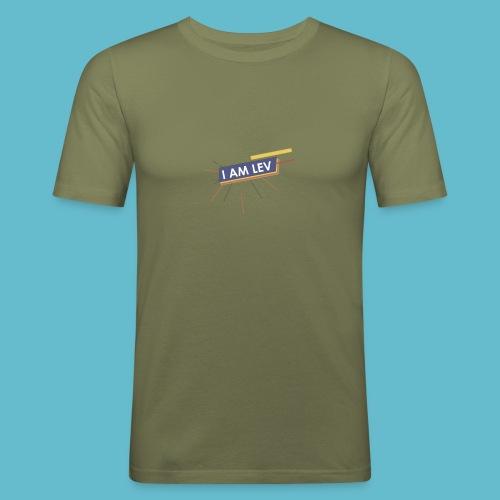 I AM LEV Banner - Mannen slim fit T-shirt