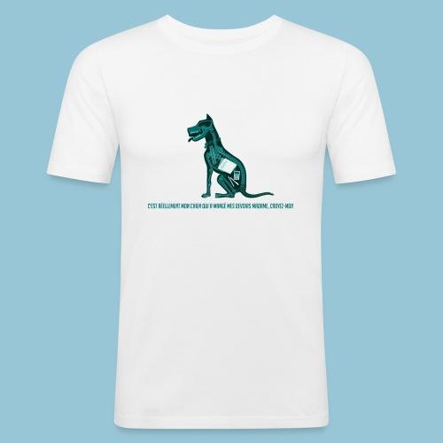 T-shirt pour homme imprimé Chien au Rayon-X - T-shirt près du corps Homme