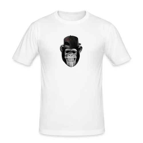 Logo Crazy Monkey - Maglietta aderente da uomo