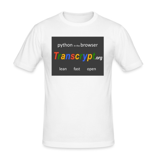 Transcrypt Logo - Mannen slim fit T-shirt
