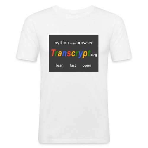 Transcrypt Logo - Mannen slim fit T-shirt