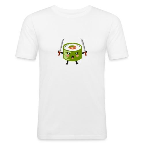 Sushi riso samurai ninja tutti i motivi - Maglietta aderente da uomo