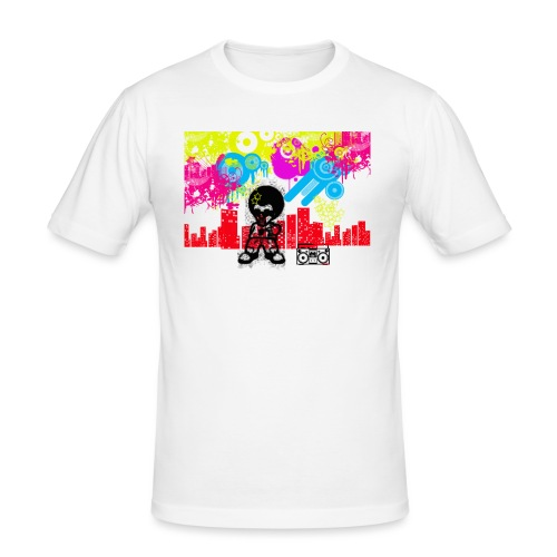 Magliette personalizzate bambini Dancefloor - Maglietta aderente da uomo