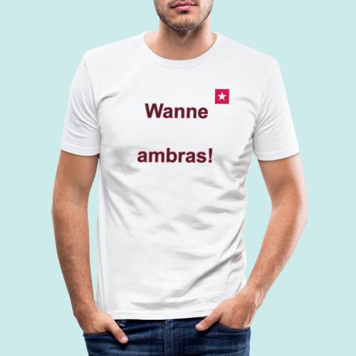 Wanne ambras verti mr def b - Mannen slim fit T-shirt