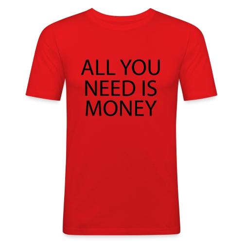 All you need is Money - Slim Fit T-skjorte for menn
