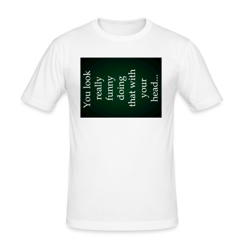 funny - Mannen slim fit T-shirt