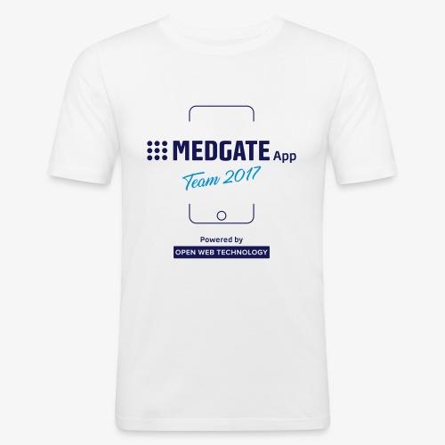 Medgate App Team 2017 White - Männer Slim Fit T-Shirt