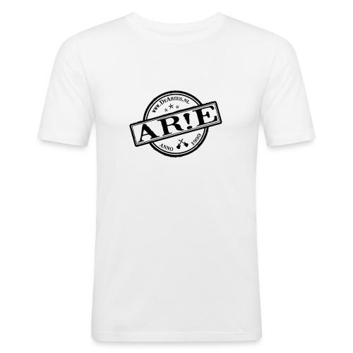 Backdrop AR E stempel zwart gif - Mannen slim fit T-shirt