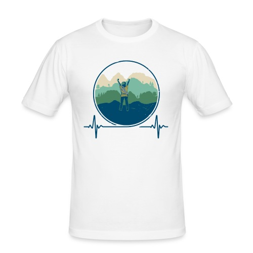 Outdoorklettern - Männer Slim Fit T-Shirt